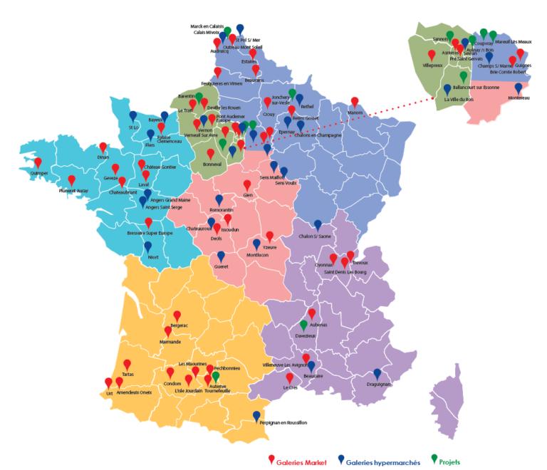 CARREFOUR EN FRANCE CARTE